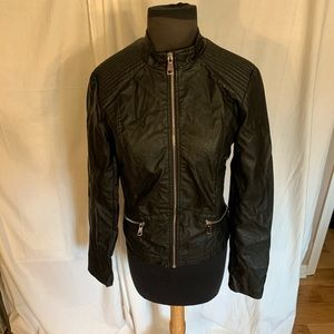 Ci sono by cavalini faux leather Moto jacket M